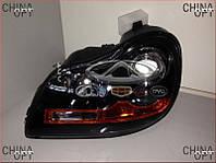 Фара передняя левая (СК1, с корректором) Geely CK1 [-2009г.] 1017001076 Китай [аftermarket]