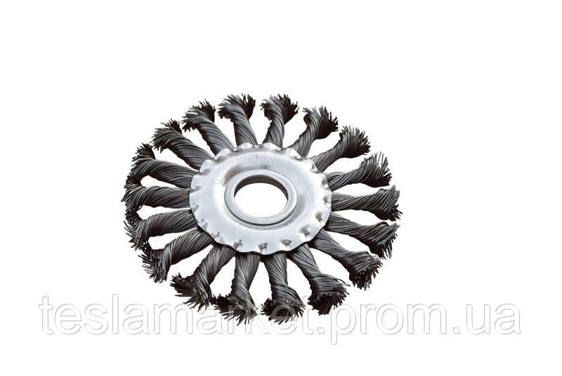 Щетка дисковая 150х22,2 мм для УШМ плетеная проволока MASTERTOOL  - TeslaMarket в Днепре