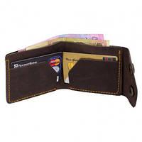 """Шкіряний гаманець, кожаный кошелек """"Х"""" ручної роботи, натуральна шкіра, на кнопках, фото 1"""