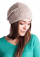 Молодежная шапка красивой вязки