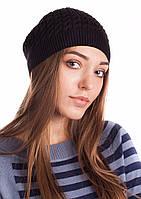 Черная классическая женская шапка