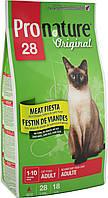 Pronature Original (Пронатюр) Cat  ADULT MEAT FIESTA - корм для кошек с мясом, 0,35 кг