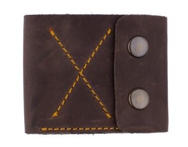 """Чоловічий гаманець """"Х"""" ручної роботи"""