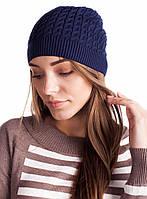 Темно-синяя шапка хлопкового волокна