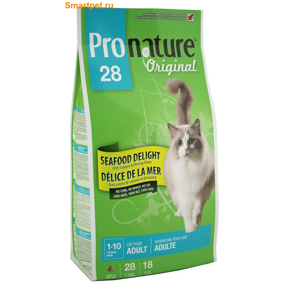Pronature Original (Пронатюр) Cat ADULT SEAFOOD DELIGHT 2.72кг - корм для кошек (рыба)