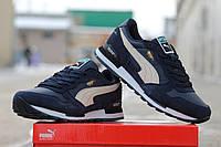Puma RX727 Мужские кроссовки замшевые синие с белым