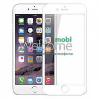 Защитное стекло iPhone 6+,6S+ (0.3 мм, 2.5D, белое, полное, с олеофобным покрытием, и покрытием Silk Screen)