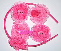 Детские набор аксессуаров для волос - малиновый