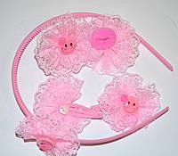 Детские набор аксессуаров для волос - розовый