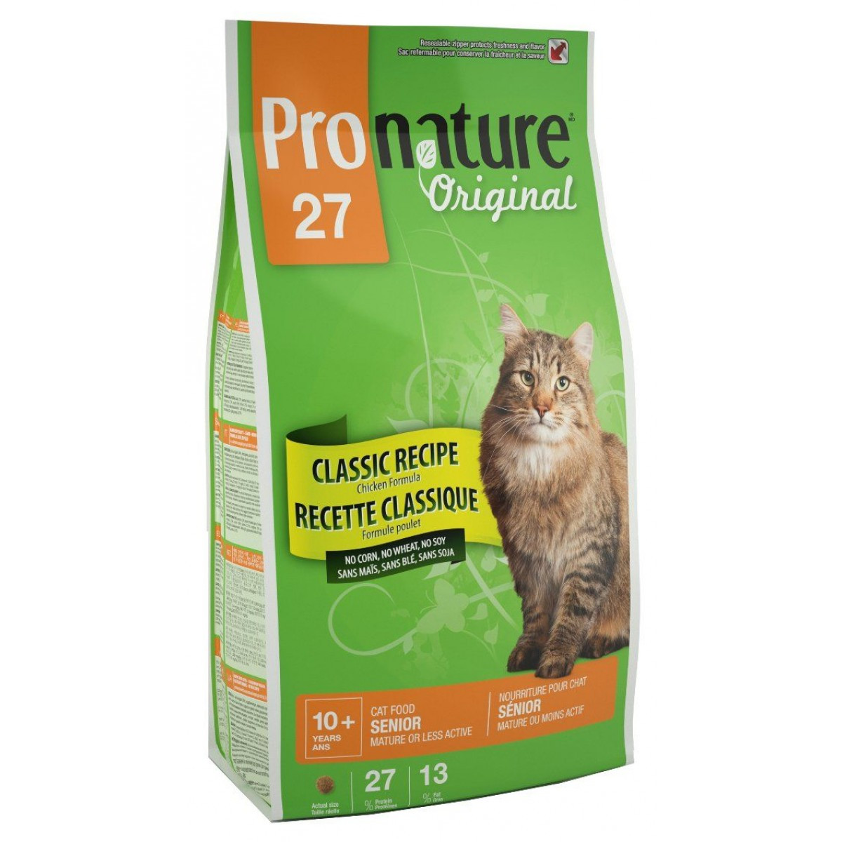 Pronature Original (Пронатюр) Cat SENIOR 5.44кг - корм для стареющих кошек от 10 лет