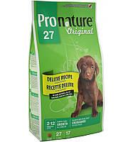 Pronature Original (Пронатюр) DELUXE Puppy - корм для щенков всех пород с чувствительным пищеварением, 16кг