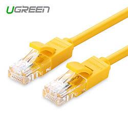 Ugreen Патч-корд прямой UTP cat.6, RJ45, литой (Желтый)