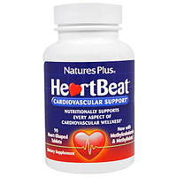 HeartBeat 90 таб Комплекс для сердца и сосудов, снижение холестерина, разжижение крови Nature's Plus USA