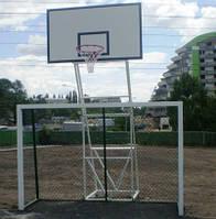 Баскетбольная стойка на четырех опорах (вынос 1,25 м), уличная, стационарная.
