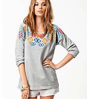 Женский модный свитер с ортнаментом