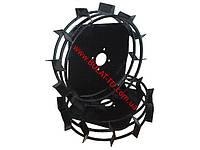 Грунтозацепы для мотоблока(железные колеса) ф 450/160 квадрат 12*12 порошковая покраска