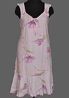 Ночная сорочка женская больших размеров (ночнушка) трикотажная хлопковая широкая бретелька Украина