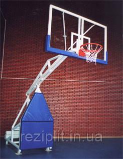 Баскетбольная стойка мобильная складная, передвижная на колесах