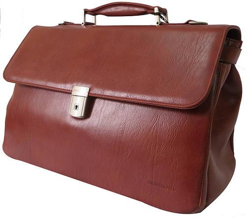 Портфель-саквояж из искусственной кожи Professional 821.26 коньяк (коричневый)