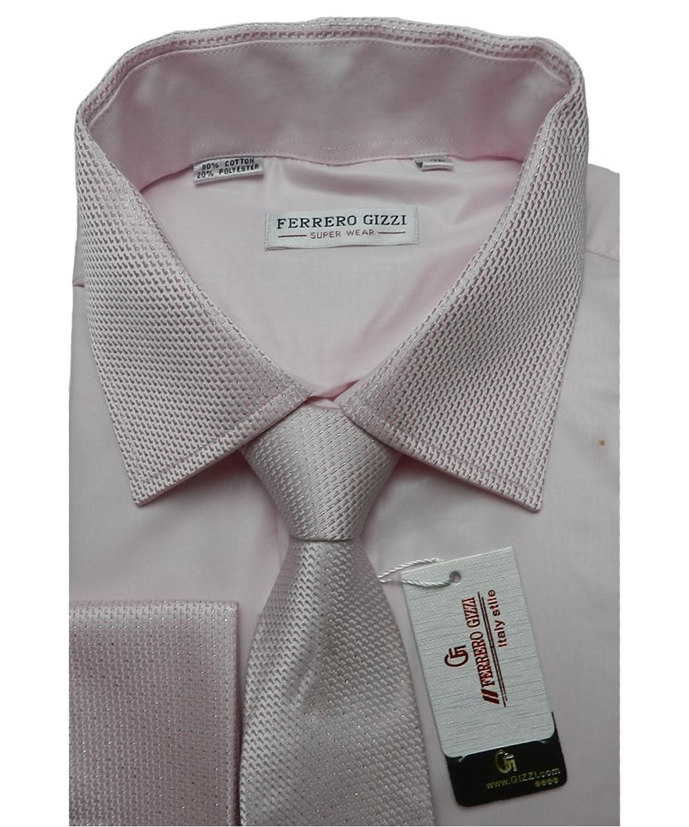 Рубашка мужская  с галстуком Ferrero Gizzi FG-1002