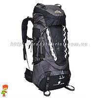 Туристический рюкзак JinShiWeiQI Black 75+5 л