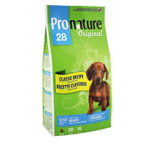 Pronature Original SMALL and MEDIUM Puppy 15 кг - корм для щенков мелких и средних пород (курица)