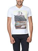 Мужская футболка LC Waikiki белого цвета с надписью Brazil