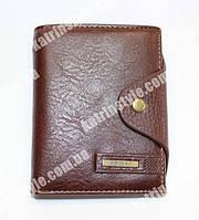 Мужской кошелек из искусственной кожи коричневого цвета