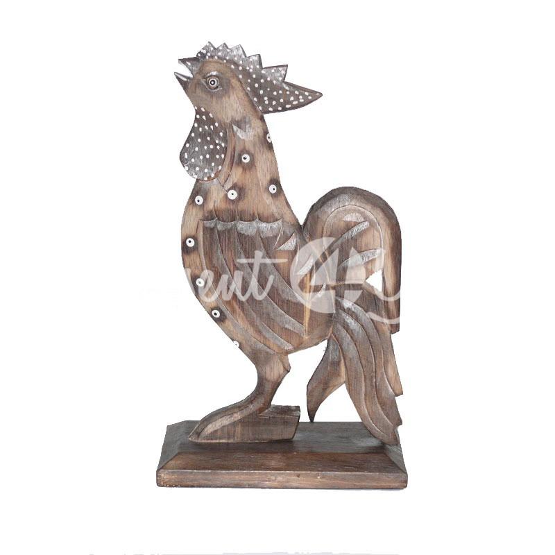 Деревянная статуэтка «Петушок», 30 см.