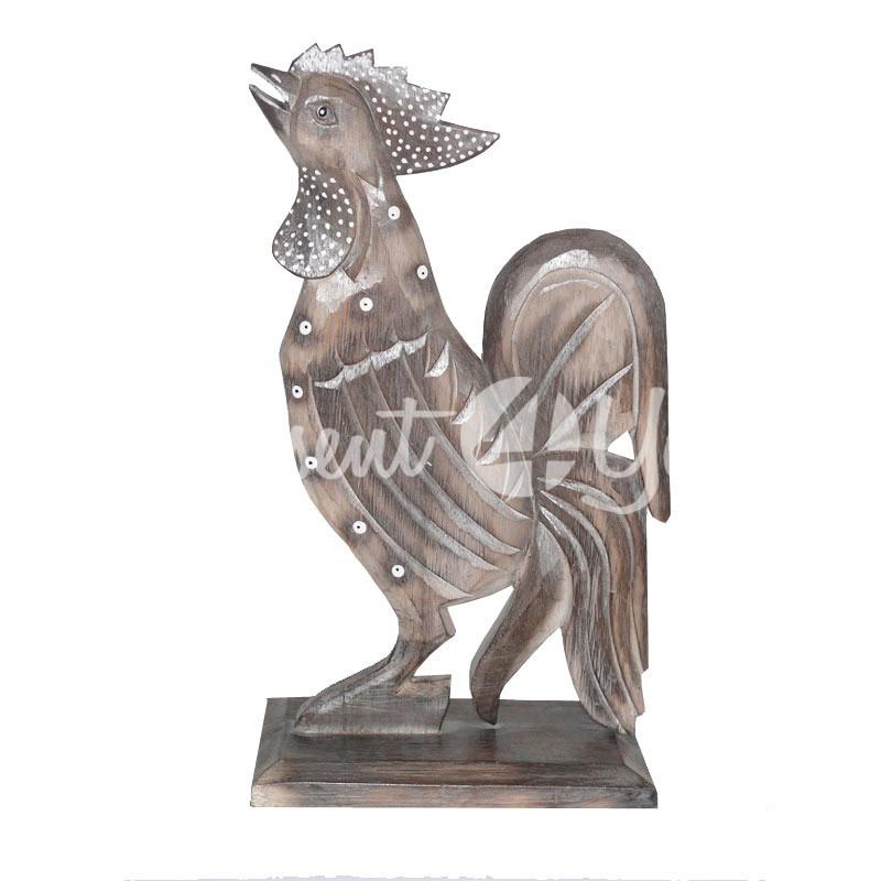 Деревянная статуэтка «Петух», 35 см.