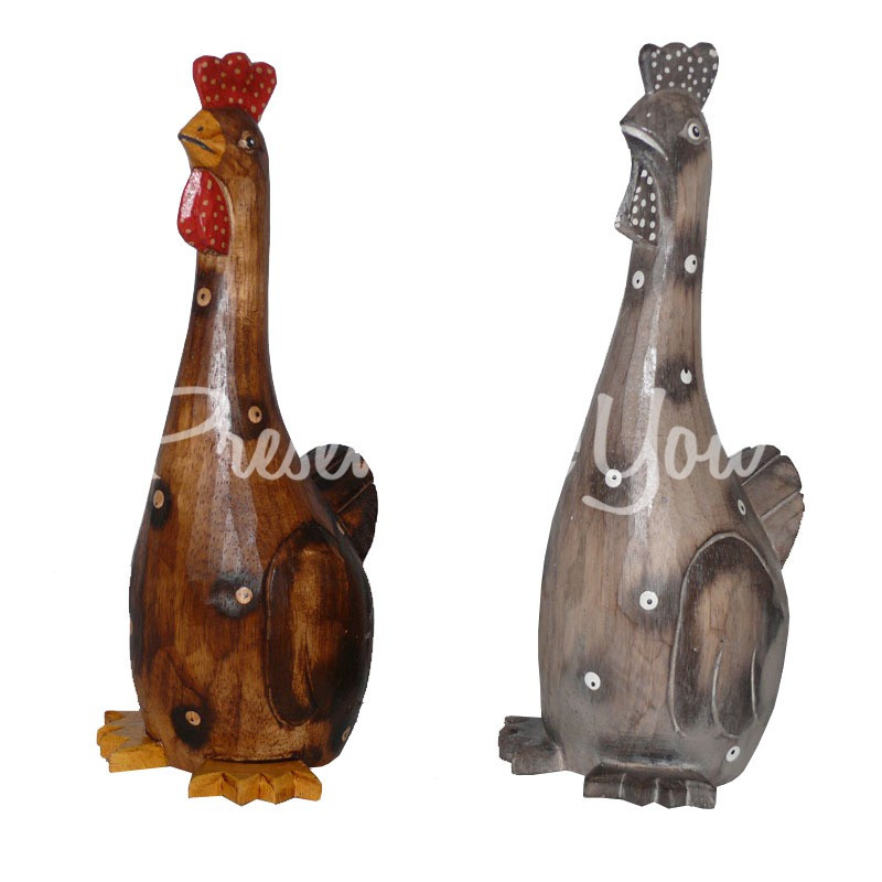 Деревянная статуэтка «Курочка», 30 см.