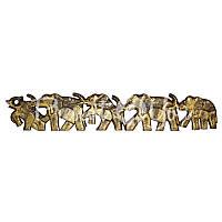 Деревянное панно на стену «5 слонов», h-1 м.