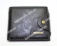Мужской кошелек из искусственной  кожи черного цвета