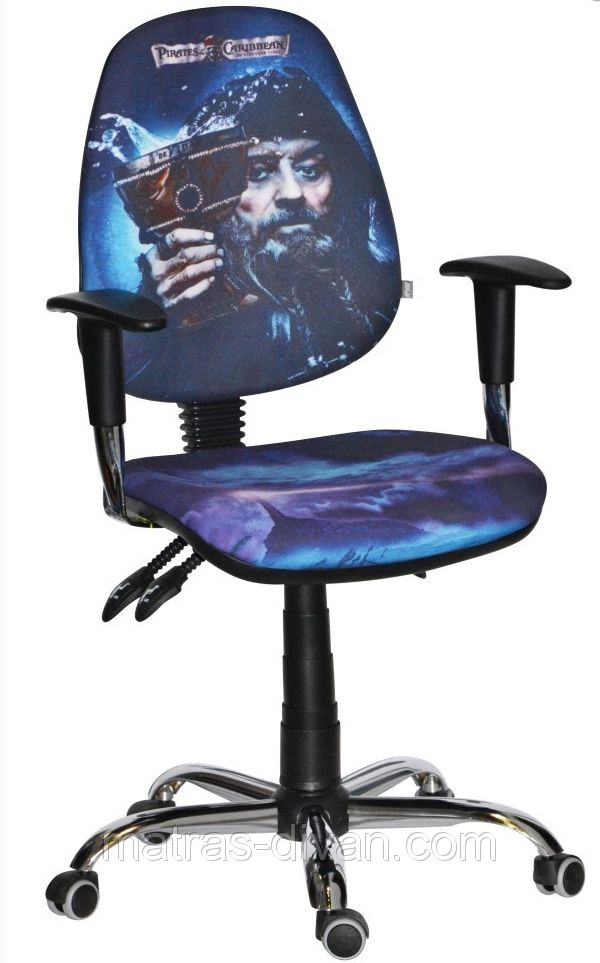 Кресло Бридж Хром Дизайн Дисней Пираты карибского моря Чёрная борода.
