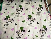 Детское полуторное постельное белье Микки Маус для девочки