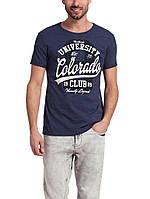 Мужская футболка LC Waikiki темно-синего цвета с надписью Colorado