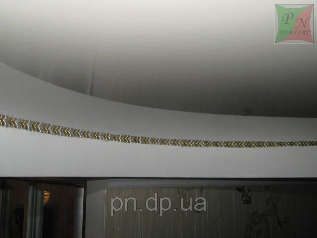 Двухуровневый потолок (гипсокартон+натяжной) со шнуром. 19