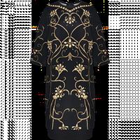 Платье Faberlic из неопрена с орнаментом Вензель, цвет черный р. 48