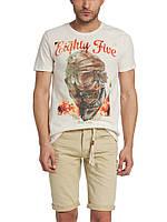 Мужская футболка LC Waikiki светло-серого цвета с надписью Eighty five