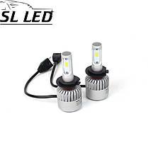 Установочный набор LED ламп в основные фонари SLP S2-LED Цоколь H7, 35W, 5000 Люмен/Комплект, фото 2