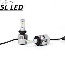 Установочный набор LED ламп в основные фонари SLP S2-LED Цоколь H7, 35W, 5000 Люмен/Комплект, фото 3