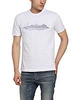 Мужская футболка LC Waikiki белого цвета с надписью Istanbul
