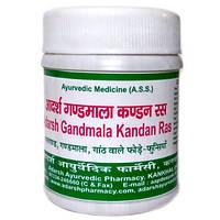 Гандмала Кандан рас 40 грамм - 100 таблеток  Адарш Аюрведик Фармаси (Gandmala Kandan Ras Adarsh Ayurvedic Phar