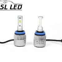 Установочный набор LED ламп в основные фонари SLP S2-LED Цоколь H11, 35W, 5000 Люмен/Комплект