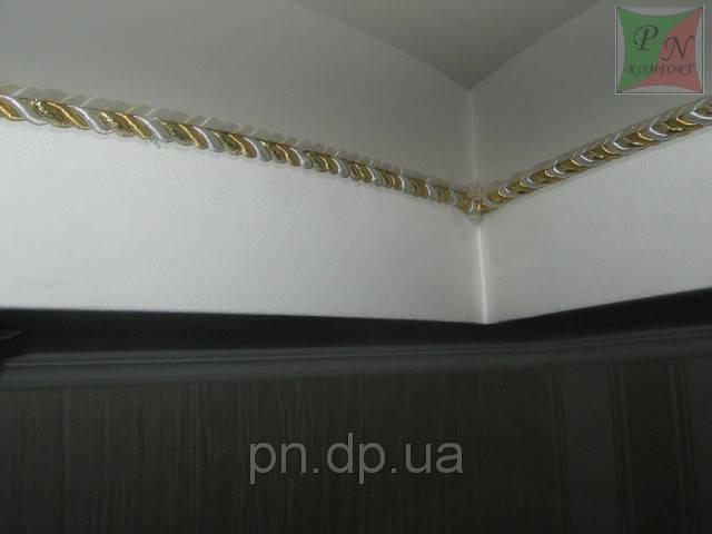 Двухуровневый потолок (гипсокартон+натяжной) со шнуром. 3