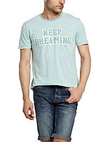 Мужская футболка LC Waikiki голубого цвета с надписью Keep Dreaming M