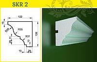 Карниз  - декор фасада из усиленного пенопласта, в/ш, мм: 130 / 125