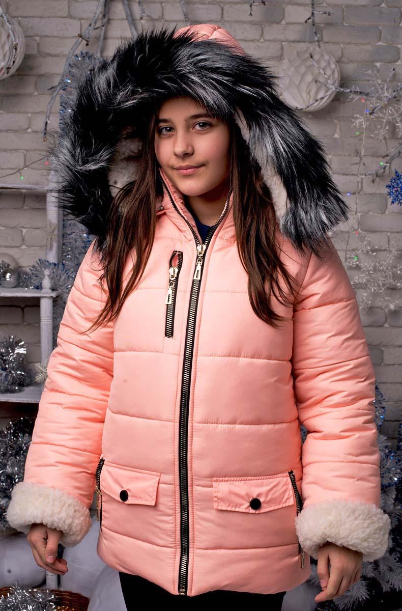 """Зимняя тёплая подростковая куртка синтепон + мех 2017 """"Аляска Мех"""" в расцветках"""