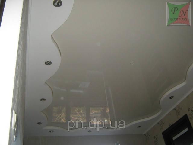 Двухуровневый потолок (гипсокартон+натяжной) со шнуром. 8