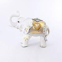 Фигура слона с сердечком, хобот к верху 35см Гранд Презент H2449-4N